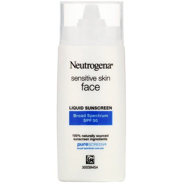 Neutrogena, Sensitive Skin, Face, Liquid Sunscreen, SPF 50, 1.4 fl oz (40 ml)