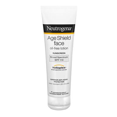 Купить Neutrogena Age Shield для лица, солнцезащитный крем без масла, SPF 110, 3 жидкие унции (88 мл)