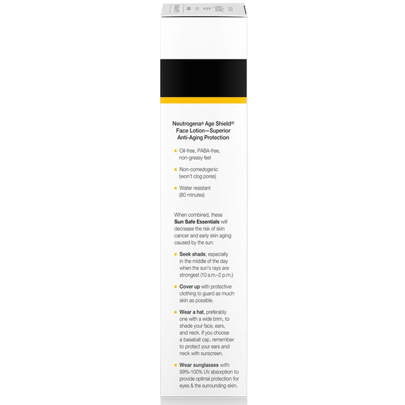 Neutrogena, Age Shield Face, Ölfreier Sonnenschutz, LSF 110, 3 fl oz ...