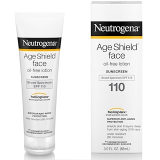 Neutrogena, Age Shield Face, 오일 프리 자외선 차단제, SPF 110, 3 fl oz (88 ml)