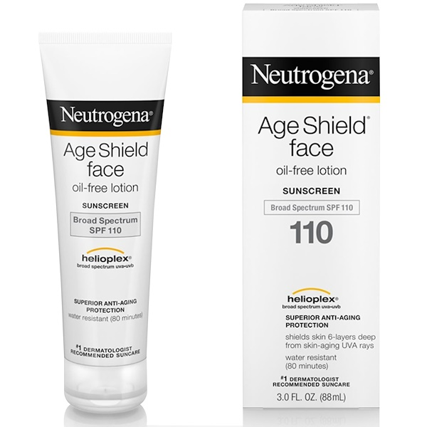 Neutrogena, Age Shield Face, Oil-Free Sunscreen, SPF 110, 3 fl oz (88 ml)