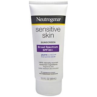 Neutrogena, Sensitive Skin Sunscreen, SPF 60+, 3.0 fl oz (88 mL)