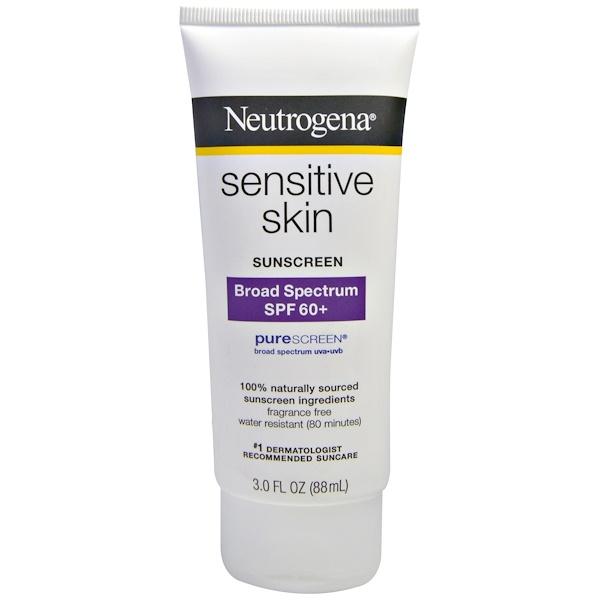 Neutrogena, Sensitive Skin Sunscreen, SPF 60+, 3.0 fl oz (88 mL) (Discontinued Item)