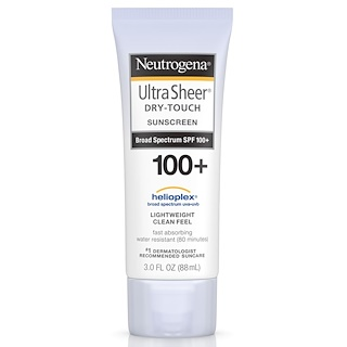 Neutrogena, Ultra Sheer, 드라이 터치 선스크린 SPF 100+, 3 fl oz (88 ml)