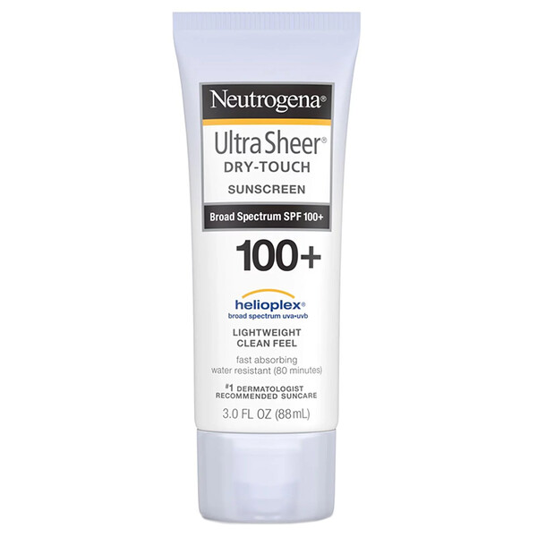 Neutrogena, Ultra Sheer, Bloqueador solar seco al tacto SPF 100+, 3 oz (88 ml)