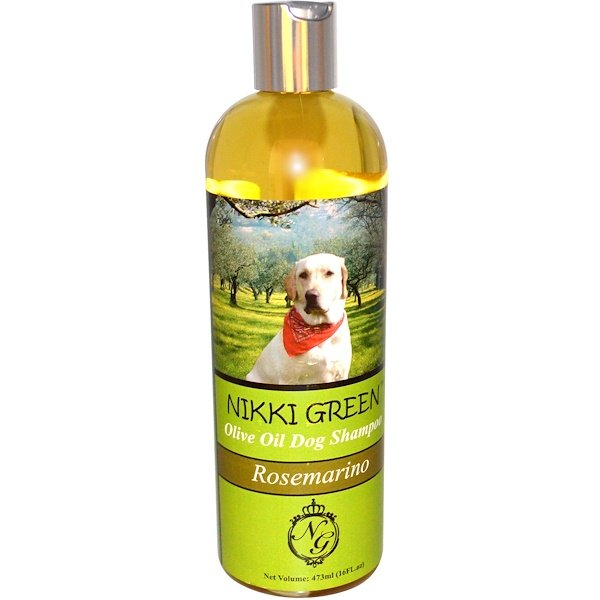 Nikki Green, Olive Oil Dog Shampoo, Rosemarino, 16 fl oz (473 ml) (Discontinued Item)