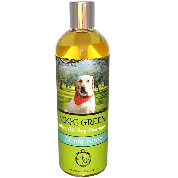 Nikki Green, Olive Oil Dog Shampoo, Menta Verde, 16 fl oz (473 ml) (Discontinued Item)
