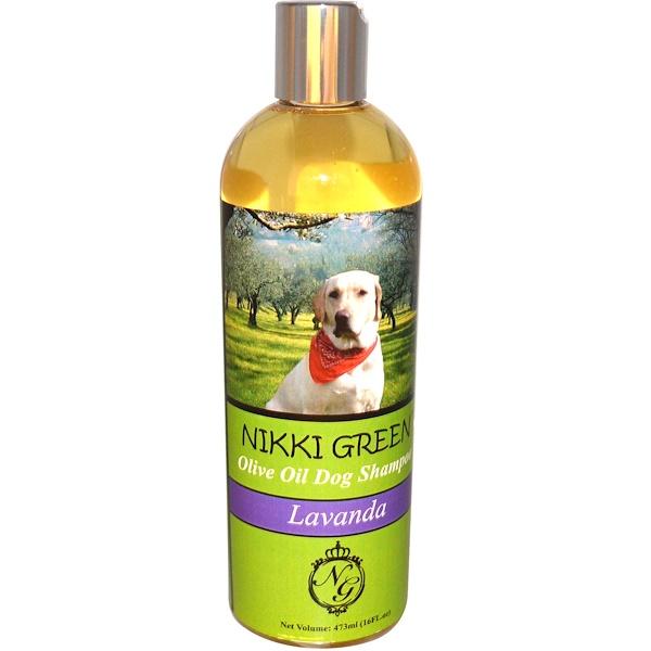 Nikki Green, Olive Oil Dog Shampoo, Lavanda, 16 fl oz (473 ml) (Discontinued Item)