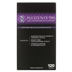 Nugenix, ZMA 睾酮促進劑,夜間游離睾酮促進劑,120 粒膠囊