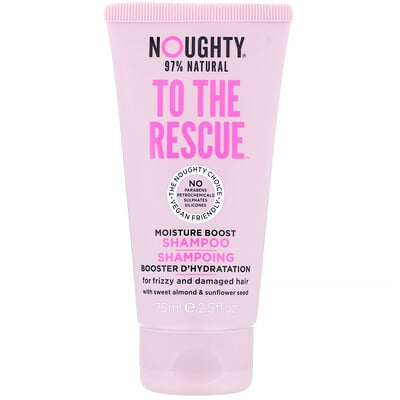 Купить Noughty To The Rescue, Moisture Boost Shampoo, For Frizzy and Damaged Hair, 2.5 fl oz (75 ml)