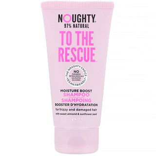 Noughty, To The Rescue, Moisture Boost Shampoo, For Frizzy and Damaged Hair, 2.5 fl oz (75 ml)