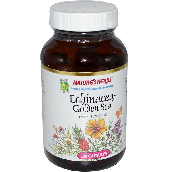 Nature's Herbs, Echinacea-Golden Seal, 100 Capsules (Discontinued Item)