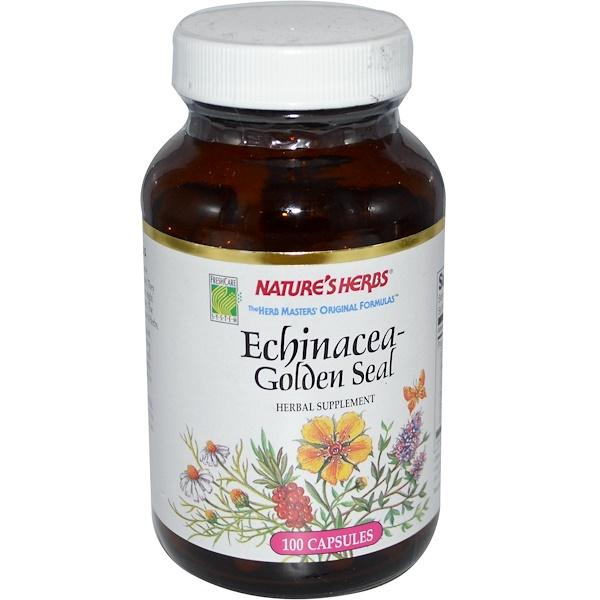 Nature's Herbs, Echinacea-Golden Seal, 100 Capsules (Discontinued Item)