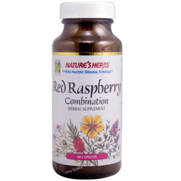Nature's Herbs, Red Raspberry Combination, 100 Capsules (Discontinued Item)