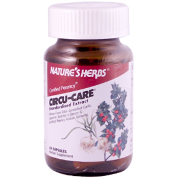 Nature's Herbs, Power-Herbs, Circu-Care, 60 Capsules (Discontinued Item)