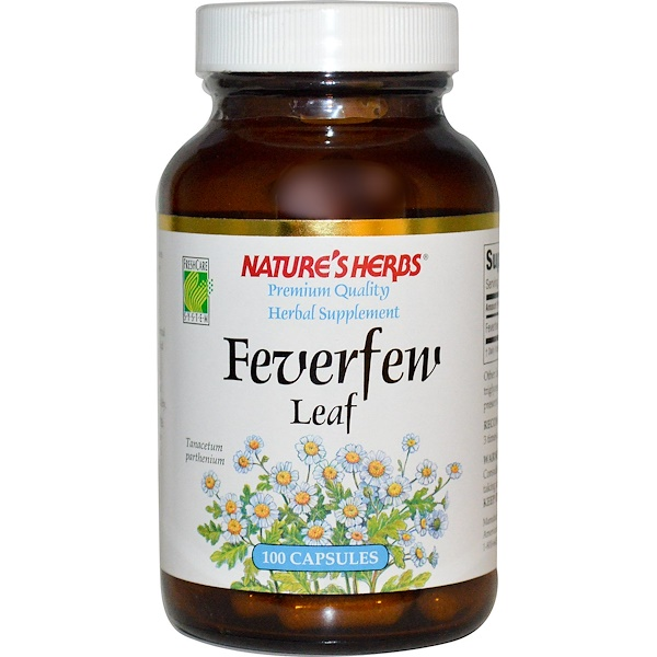 Nature's Herbs, Feverfew Leaf, 100 Capsules (Discontinued Item)