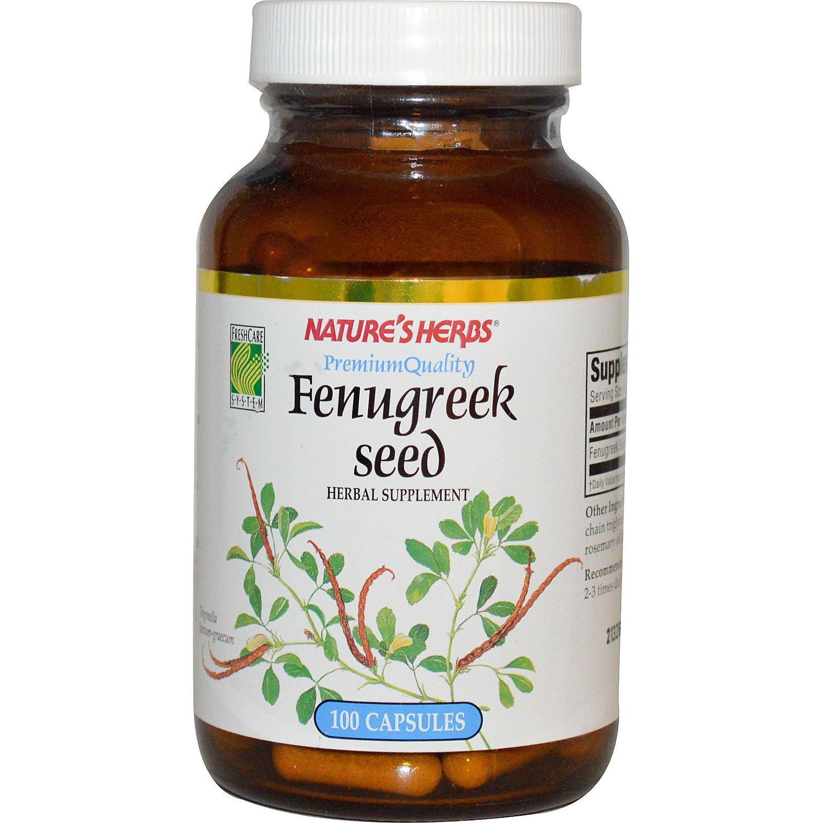 Nature's Herbs, Fenugreek Seed, 100 Capsules (Discontinued Item)