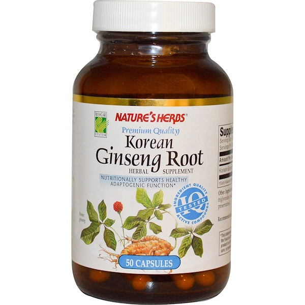 Nature's Herbs, Korean Ginseng Root, 50 Capsules (Discontinued Item)