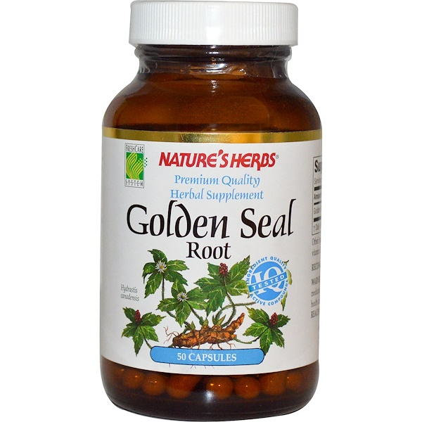 Nature's Herbs, Golden Seal Root, 50 Capsules (Discontinued Item)