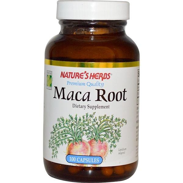Nature's Herbs, Органическая Корневая Мака 100 капсул (Discontinued Item)