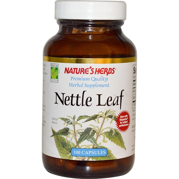 Nature's Herbs, Nettle Leaf, 100 Capsules (Discontinued Item)