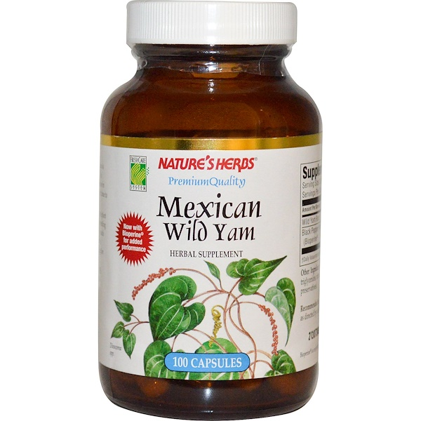 Nature's Herbs, Mexican Wild Yam, 100 Capsules (Discontinued Item)