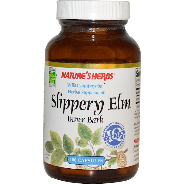 Nature's Herbs, Slippery Elm, Inner Bark, 100 Capsules (Discontinued Item)