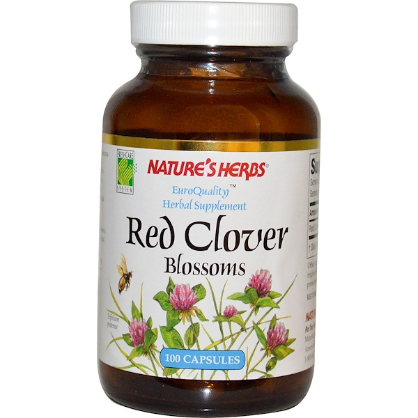 Nature's Herbs, Red Clover Blossoms, 100 Capsules (Discontinued Item)