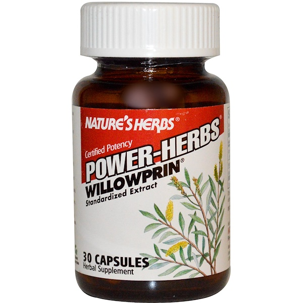 Nature's Herbs, Power-Herbs, Willowprin, 30 Capsules (Discontinued Item)