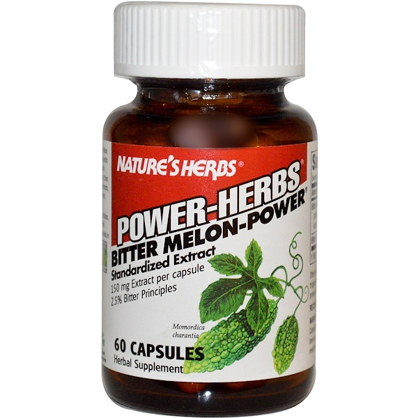 Nature's Herbs, Power-Herbs, Bitter Melon-Power, 60 Capsules (Discontinued Item)