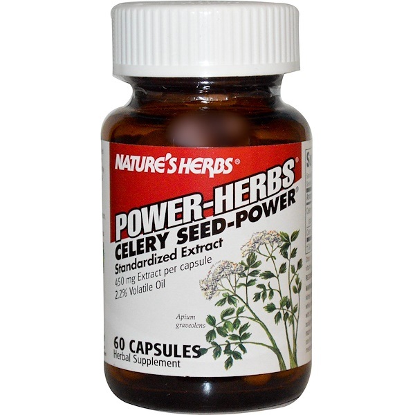 Nature's Herbs, Power-Herbs, Celery Seed-Power, 60 Capsules (Discontinued Item)