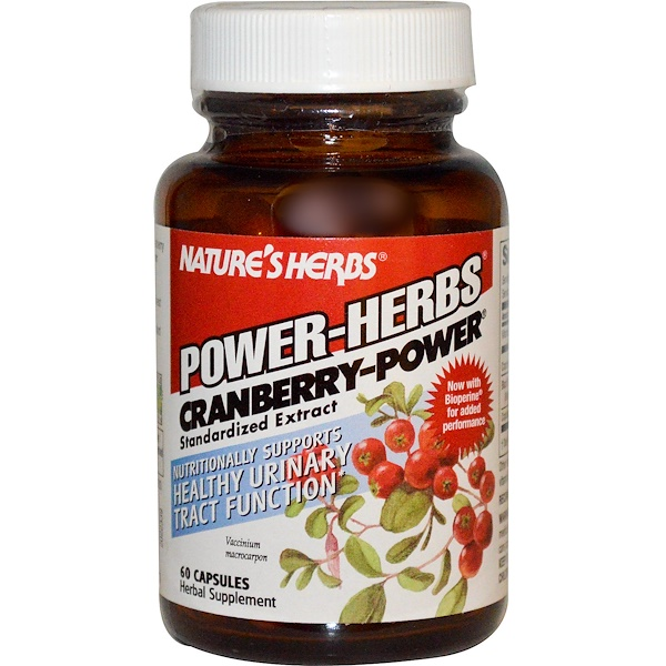 Nature's Herbs, Power-Herbs, Cranberry-Power, 60 Capsules (Discontinued Item)