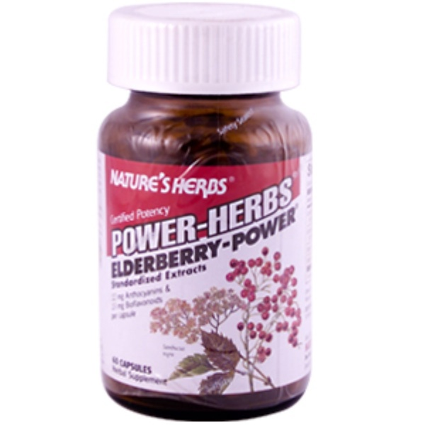 Nature's Herbs, Power-Herbs, Elderberry - Power, 60 Capsules (Discontinued Item)