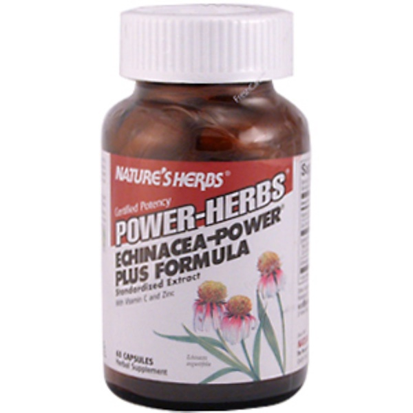 Nature's Herbs, Power-Herbs, Echinacea - Power Plus Formula, 60 Capsules (Discontinued Item)