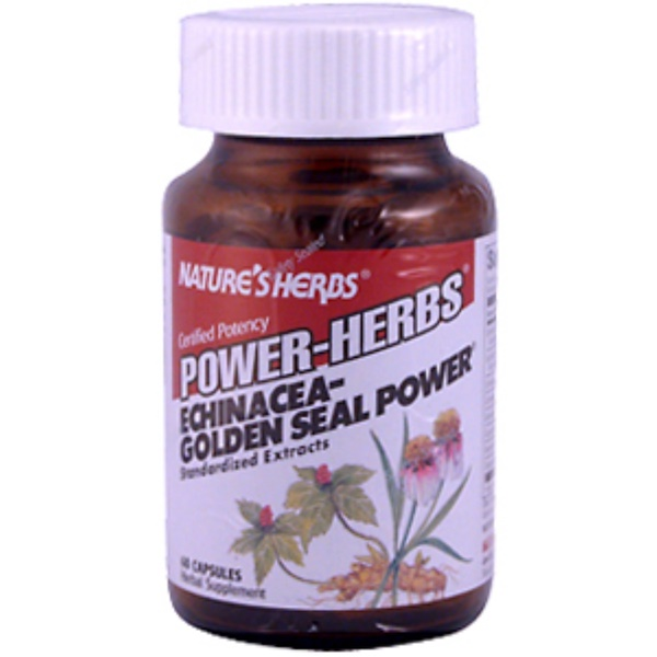 Nature's Herbs, Power-Herbs, Echinacea-Golden Seal Power, 60 Capsules (Discontinued Item)