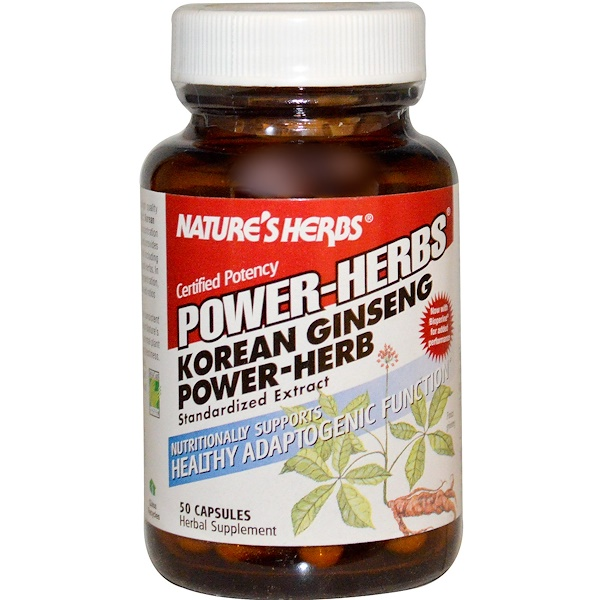 Nature's Herbs, Power-Herbs, Korean Ginseng Power-Herb, 50 Capsules (Discontinued Item)