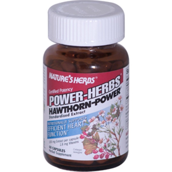 Nature's Herbs, Power-Herbs, Hawthorn-Power, 60 Capsules (Discontinued Item)