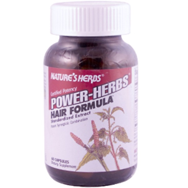 Nature's Herbs, Power Herbs, Hair Formula, 60 Capsules (Discontinued Item)