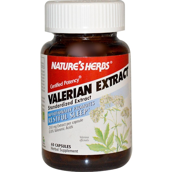 Nature's Herbs, Valerian Extract, 250 mg, 60 Capsules (Discontinued Item)