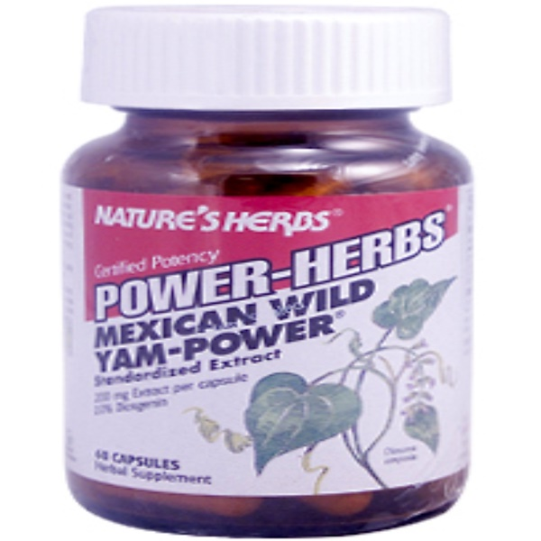 Nature's Herbs, Power-Herbs, Mexican Wild Yam-Power, 60 Capsules (Discontinued Item)