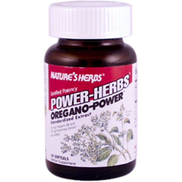 Nature's Herbs, Power-Herbs, Oregano-Power, 60 Softgels (Discontinued Item)