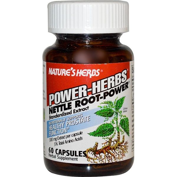 Nature's Herbs, Power-Herbs, Nettle Root-Power, 60 Capsules (Discontinued Item)