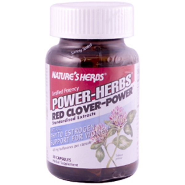 Nature's Herbs, Power-Herbs, Red Clover-Power, 30 Capsules (Discontinued Item)