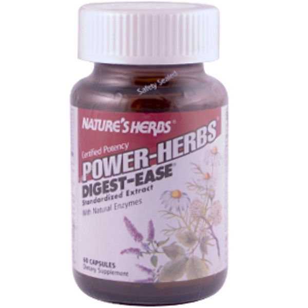 Nature's Herbs, Power-Herbs, Digest-Ease, 60 Capsules (Discontinued Item)