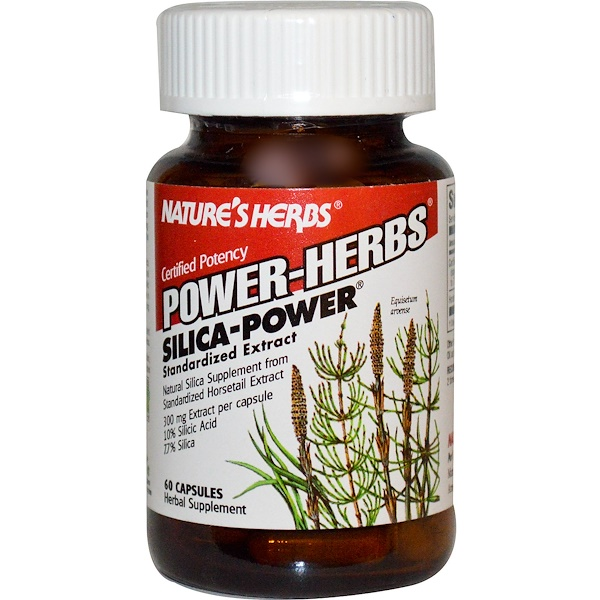 Nature's Herbs, Power-Herbs, Silica-Power, 60 Capsules (Discontinued Item)