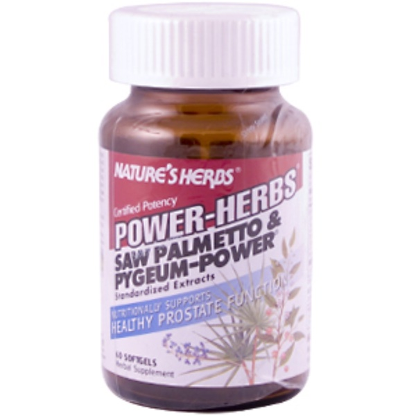 Nature's Herbs, Power-Herbs, Saw Palmetto & Pygeum-Power, 60 Softgels (Discontinued Item)