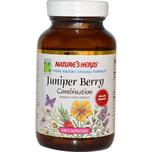 Nature's Herbs, Juniper Berry Combination, 100 Capsules (Discontinued Item)