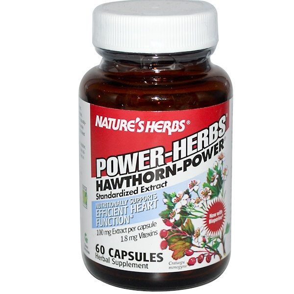 Nature's Herbs, Power-Herbs, Hawthorn-Power, Standardized Extract, 60 Capsules (Discontinued Item)