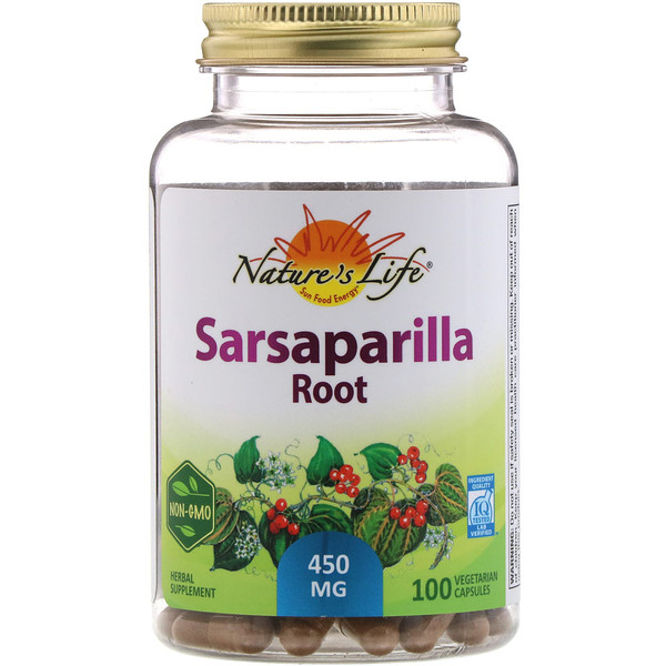 Nature's Life, Sarsaparilla Root, 450 mg, 100 Vegetarian Capsules