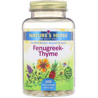 Nature's Herbs, Fenugreek-Thyme, 100 Vegetarian Capsules